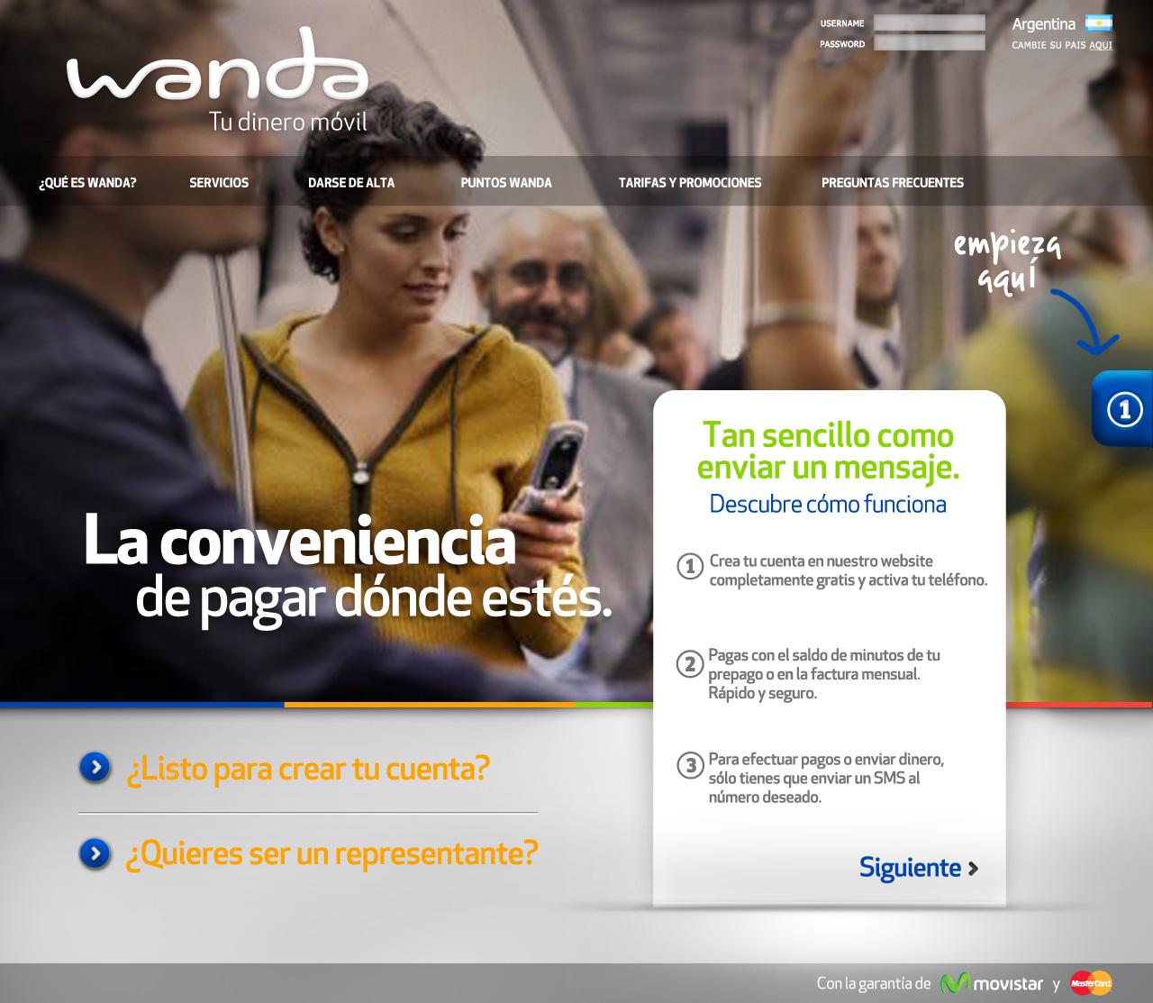 Wanda Argentina Spanish Website